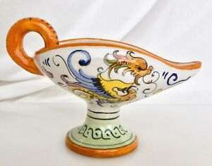 Vintage Italian Deruta Pottery Raffaellesco Candlestick Candle Holder - 83019