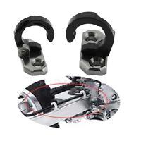 2X Rear Brake Line Cable Hose Clamp Guide For Kawasaki KLX 250 KX60 KX125 Black