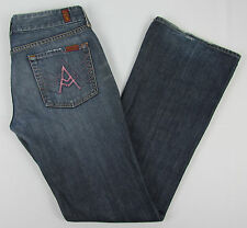 Womens 7 For all Mankind A Pocket Boot cut jeans USA Made Blue Size 30