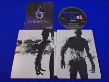ps3 RESIDENT EVIL 6 Limited Steelbook Edition REGION FREE Pal English