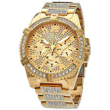 Guess Frontier Quartz Gold Dial Men's Watch W0799G2