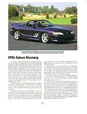 1996 Saleen Mustang Article - Must See !!