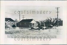 1952 Tractor Pulls Truck Through Milk River Flood Havre Montana Press Photo