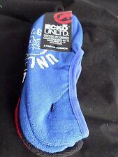 3 Pair Ecko Unlimited Men No Show Boat Socks Large Blue Black Skull 6 1/2-12