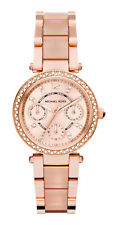 NEW MICHAEL KORS MK6110 ROSE GOLD MINI PARKER CHRONOGRAPH WOMEN'S WATCH UK