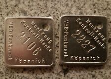 DDR  Ostalgie Werkzeugmarke VEB Funkwerk Köpenick Medallie Token