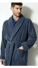 """MENS M /& S STEEL FLEECE THERMAL WRAP DRESSING GOWN SIZE L 41-43/"""" CHEST BNWT"""