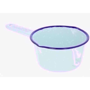 Falcon Enamel Milk Pan 14cm White- Ideal for Camping or Home UK