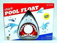 GIANT 5 1//2 Ft Inflatable Great White Shark JAWS Sharkanado Pool Beach Float GA