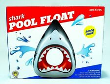 """NEW SHARK JAWS JUMBO SIZED INFLATABLE POOL FLOAT! ~ APPROX 55"""" x 40"""" x 16"""""""