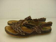 Womens 8 8.5 39 El Naturalista Ikebana N119 Brown Leather Sandals Slingback Shoe