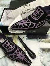 GUCINARI designer black & purple shoes size 43 BNWTB