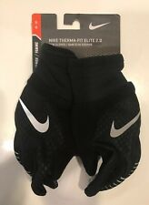 Nike Therma-Fit Elite 2.0 Run Gloves Womens Black/Silver Size M/M Medium New