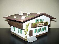 Alpenblick Holz Berg Haus HO VEB Wachsblumenfabrik DDR alt Spielzeug Modellbahn