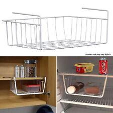 New under shelf Storage Rack White Metal Kitchen Organiser Basket