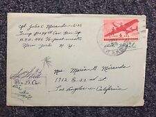 1945 US Army Postal Service Envelope with Letter