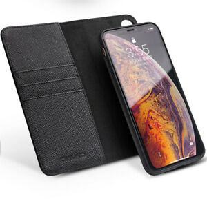Qialino 2in1 Magnetic Real Leather Flip Wallet Case Cover iPhone Huawei Samsung