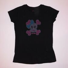 Paul Frank Girls Shirt XS T Shirt Black Studded Short Sleeve