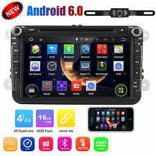 "Android 6.0 for VW Volkswagen Jetta Passat EOS 8"" Car GPS Stereo DVD 2DIN Radio"