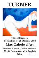 Signed French Art Gallery Exhibition Poster 2002 Expressionist Nude Neal Turner