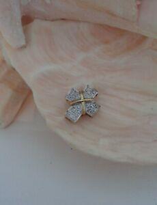 PRETTY SMALL 9CT GOLD HALLMARKED DIAMOND PENDANT, NOT SCRAP