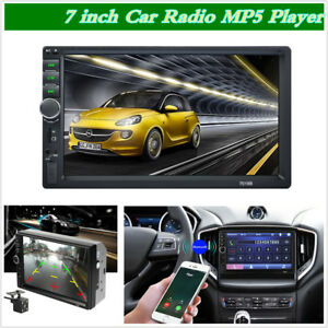 7 inch 2 Din HD car radio MP5 player touch screen FM AUX Mirror Link W/ Camera
