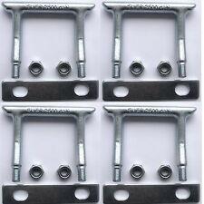 4 Verzurrösen eckig U-Bügel Zurrösen f. Gurte Ladung-Sicherung für PKW Anhänger