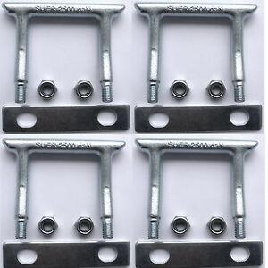 4 Verzurrösen eckig U-Bügel Zurrösen Ladungssicherung f. PKW Anhänger versenkbar