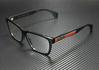 GUCCI GG0466Oa 002 Rectangular Square Black Demo Lens 56 mm Men's Eyeglasses