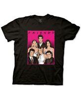 Ripple Junction Mens Shirt Black Size Medium M Friends Neon Graphic Tee $20 190
