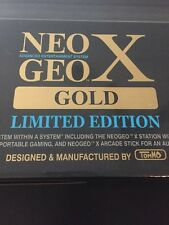 NeoGeo X GOLD LIMITED EDITION CONSOLE + HANDHELD + ARCADE STICK + 21 GAMES NEW