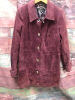 Dennis Basso Leather Jacket Women's Size Medium