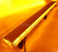 "72"" 136 LED LIGHT BAR EMERGENCY BEACON TOW TRUCK PLOW RESPONSE TOP STROBE AMBER"