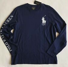 $129 NWT Mens Polo Ralph Lauren Big Pony Long Sleeve Custom Slim Fit T-Shirt