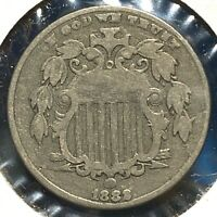 1882 5C Shield Nickel (59508)