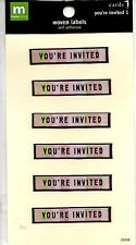 You're Invited Woven Labels Stickers Self Adhesive Pink Green Invitations 6