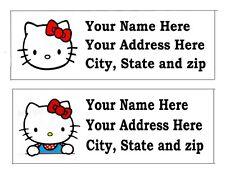 120 HELLO KITTY KITTEN RETURN ADDRESS LABELS