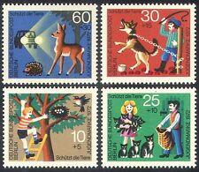 Germany 1972 Animals/Nature/Dog/Cats/Hedgehog/Deer/Welfare 4v set n(28281)
