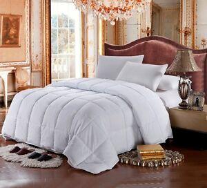 FULL / QUEEN Size White GOOSE DOWN ALTERNATIVE Comforter 1200TC Egyptian Cotton