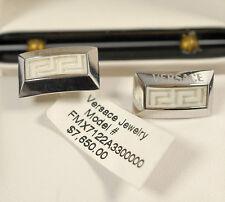 $7,650 Versace DV ONE 18K WHITE GOLD Cufflinks Men Business Holiday Gift NEW Box