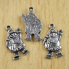 14pcs cute Tibetan silver Santa Claus charms.h0056