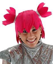Pink PIGTAIL PIXIE Felt Costume WIG manga anime powerpuff girl japanese lola