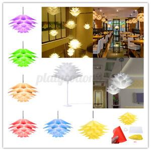 DIY Lotus Chandelier Shape Ceiling Pendant Light Lampshade Home Decor 7 Colors