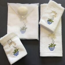 PILBEAM ORCHID EMBROIDERED FACE WASHER