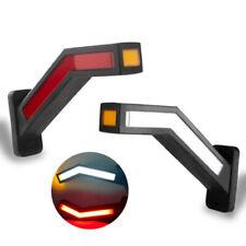 2PCS Car LED Side Marker Light Lamp For Trailer Truck Van 12V-24V Indicator Kit