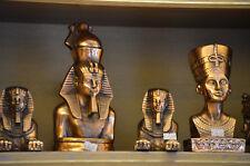 Dekofigur Ägyptische Büste Nofretete Statue Skulptur aus Messing