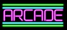 "New Purple Arcade Neon Sign 14""x10"" Beer Light Lamp Real Glass Artwork Decor"