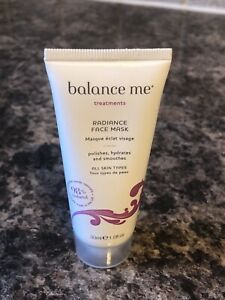 Balance Me Radiance Face Mask, All Skin Types, 98% Natural, 30ml, New & Sealed