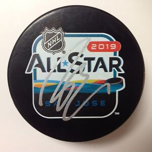 John Gibson Signed Autographed 2019 NHL All Star All-Star Hockey Puck a