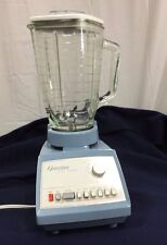 Vintage Blue Osterizer Dual Range Blender 6 Speed
